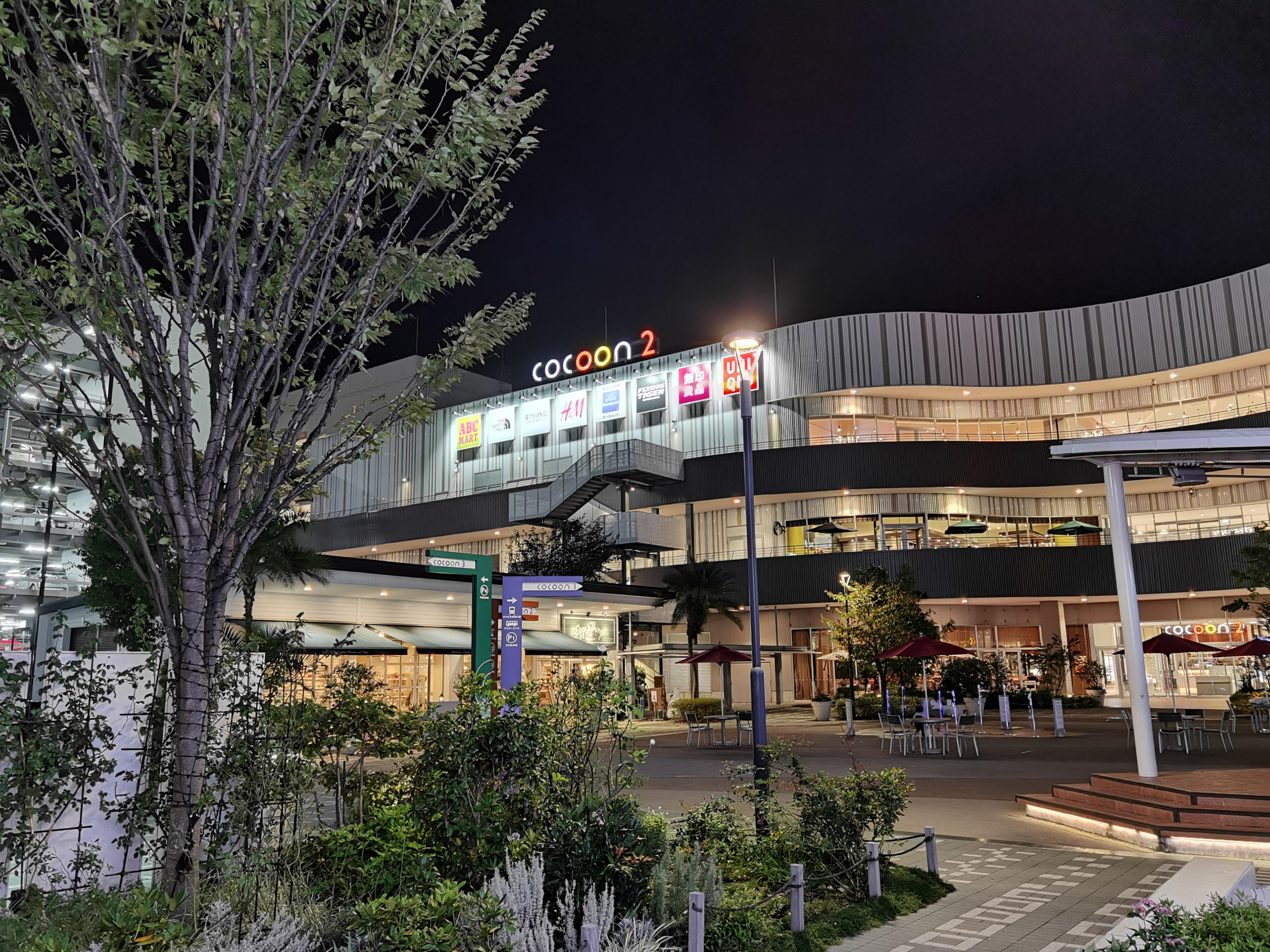Huawei P40 Pro 5Gの広角(夜景モード)で撮影
