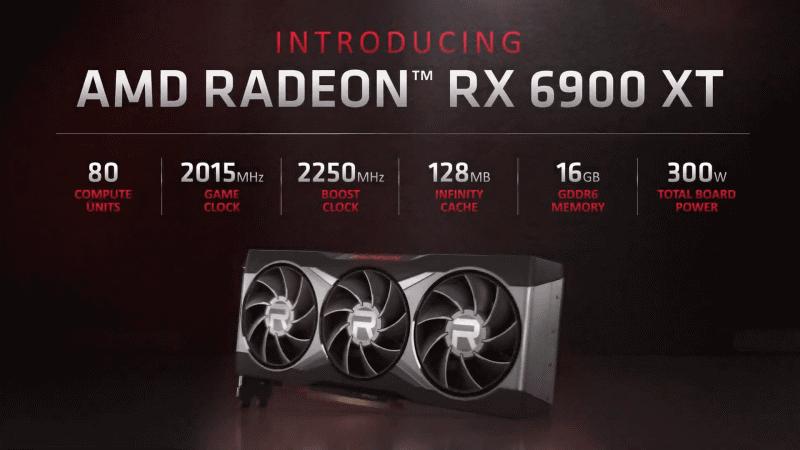 Radeon RX 6900 XTのおもな仕様