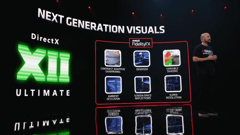 DirectX 12 Ultimateをサポートするほか、独自のFidelityFXも対応する