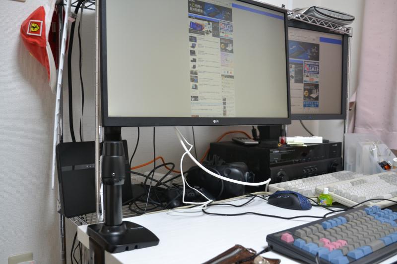 ディスプレイの下が空くので、スペースを有効活用できる