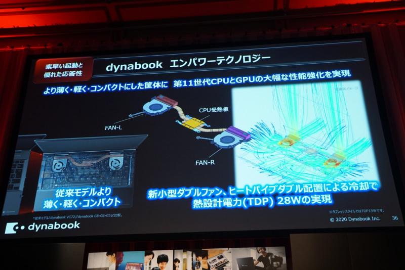 冷却能力を向上させ、ファンノイズも減らした「dynabook エンパワーテクノロジー」の新型クーラー