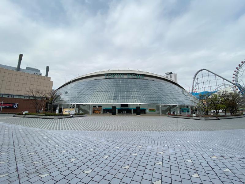 読売ジャイアンツの本拠地である東京ドーム