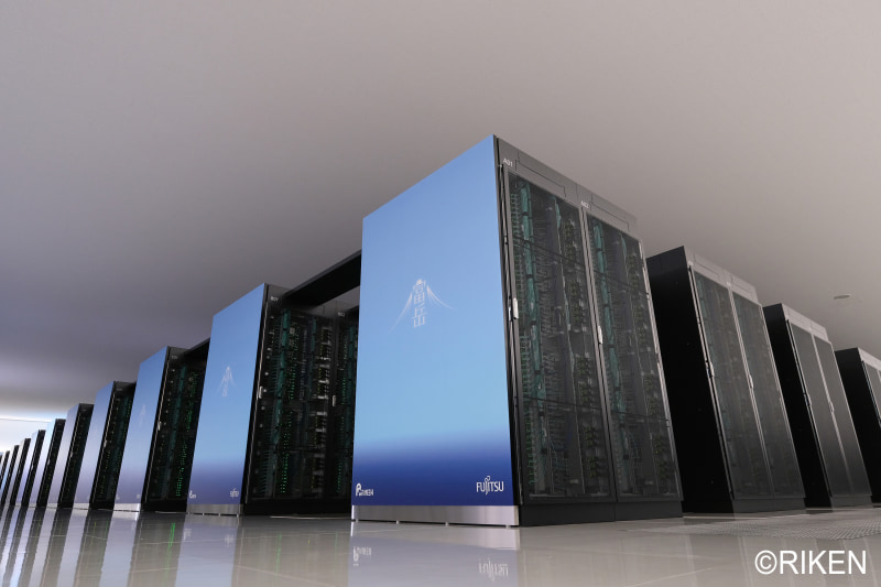 世界4冠を獲得したスーパーコンピュータ「富岳」