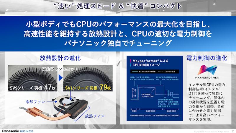 冷却ファンやユニットを改良