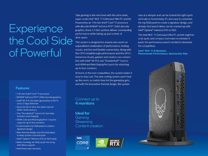 Intel NUC11 Enthusiast