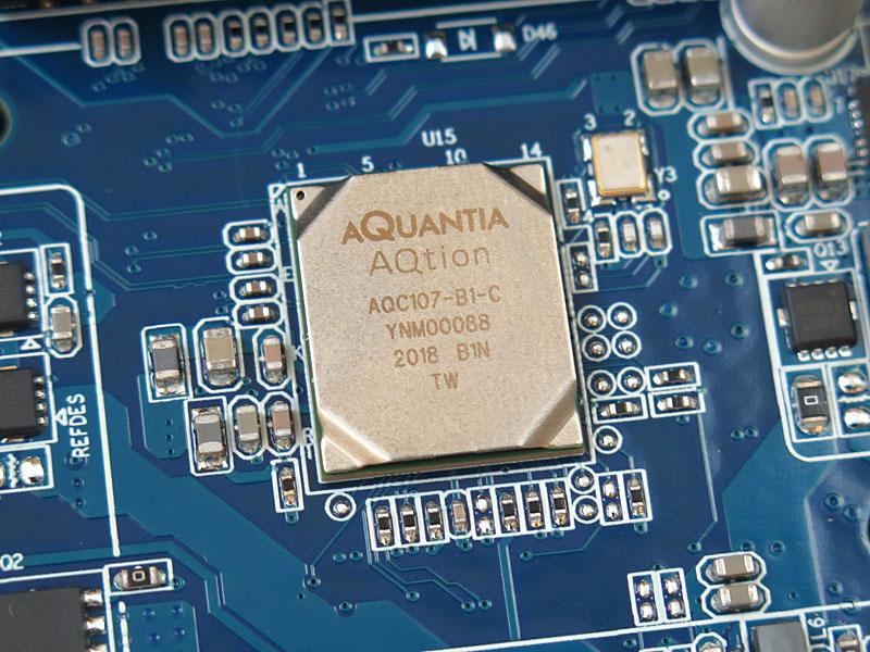 Aquantiaの10GbEコントローラ「AQC107」