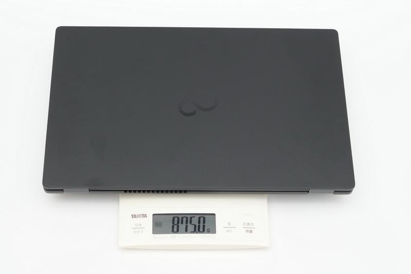購入したWU2/E3の重量を測定してみたところ、875gと公称より23gも軽かった