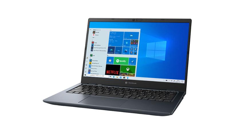 "<a href=""https://dynabook.com/mobile-notebook-tablet/g-series/2020-fall-winter-model/index.html"" class=""n"" target=""_blank"">製品ページのURL</a><br>価格: 17万円~22万円前後●CPU: Core i5-1135G7/i7-1165G7●ディスプレイ: 13.3型1,920×1,080ドット液晶●サイズ: 約306×210×17.9mm●重量: 約888g/908g●バッテリ駆動時間: 約24時間●メモリ: 8GB/16GB●ストレージ: 256GB/512GB PCIe SSD●OS: Windows 10 Home●インターフェイス: Thunderbolt 4×2、USB 3.0×2、Gigabit Ethernet、Wi-Fi 6、Bluetooth 5.1、HDMI、約92万画素Webカメラ(顔認証対応)、microSD、音声入出力など"