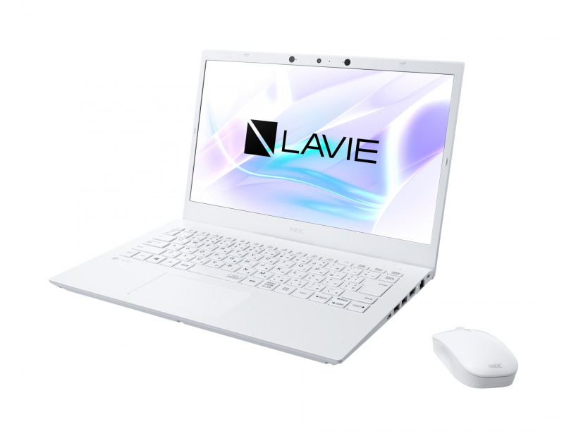 "<a href=""https://www.nec-lavie.jp/products/notebook/lavie/n14/"" class=""n"" target=""_blank"">製品ページのURL</a><br>価格: 18万4,800円(税別)前後●CPU: Core i7-1165G7●ディスプレイ: 14型1,920×1,080ドット液晶●サイズ: 327×225.7×19.2mm●重量: 約1.47kg●バッテリ駆動時間: 約12時間●メモリ: 8GB●ストレージ: 512GB PCIe SSD●OS: Windows 10 Home●インターフェイス: USB 3.1 Type-C、USB 3.0×2、Gigabit Ethernet、Wi-Fi 6、Bluetooth 5、HDMI、約92万画素Webカメラ(顔認証対応)、SD、音声入出力など"