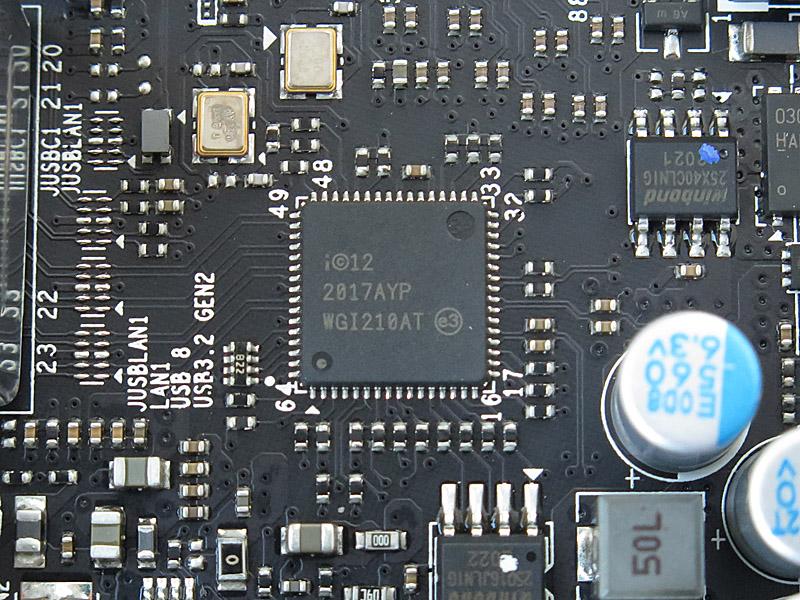 IntelのI210-ATを搭載。IPMI管理のさいもこれと共有する。一方、10Gigabit EthernetコントローラはMarvellの「AQC113C」という最新モデル