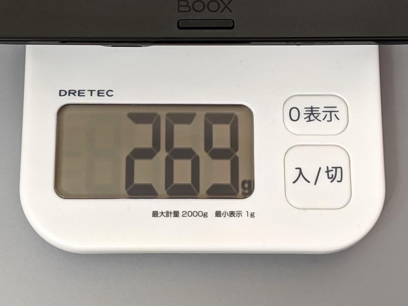 従来モデルは実測269gなので多少重くなっているが、この程度の違いしかないのがむしろ驚異的だ