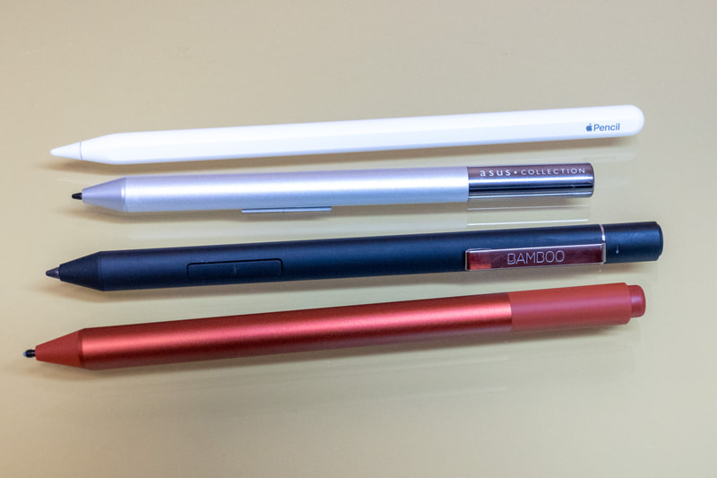 一口にペンといってもこれだけの種類がある、それぞれ使えるデバイスは異なっているので注意が必要