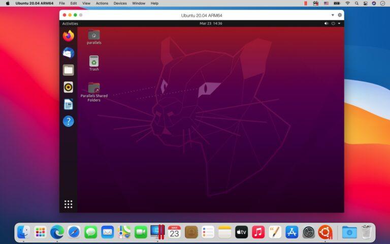 Ubuntu 20.04を動作