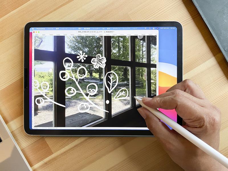 アプリの対応次第ですが、Apple Pencilは筆圧感知にも対応します