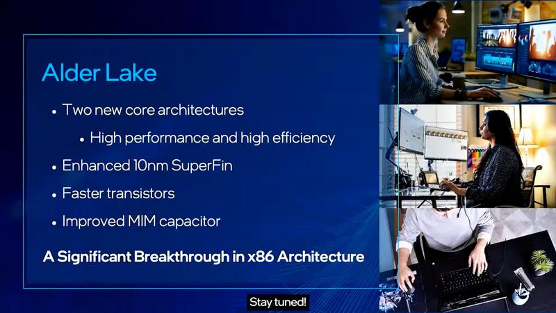 Alder Lakeの特徴。高性能/高効率の2種の新アーキテクチャ採用やx86アーキテクチャの大幅な改良など