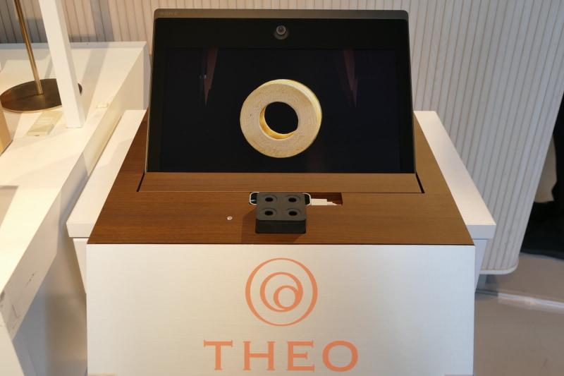 ソニーの空間再現ディスプレイと香り生成・制御技術を使ったバウムクーヘンの展示も行なわれる
