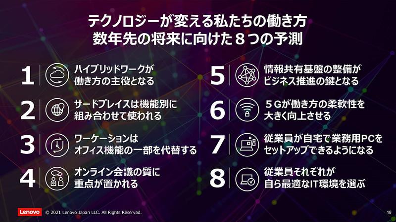テクノロジーが変える私達の働き方 数年先の将来に向けた8つの予測