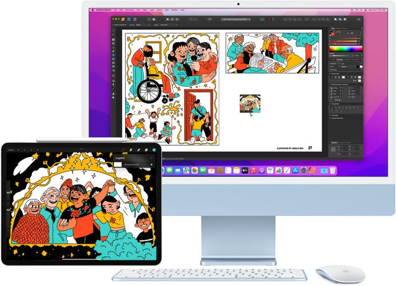 iPadをMacの外部デスクトップとして使える「Sidecar」に加えて、iPadとMac間で入力操作やコンテンツを自由に行き来できるユニバーサルコントロールが追加されます