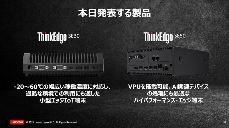 ThinkEdge SE30およびSE50