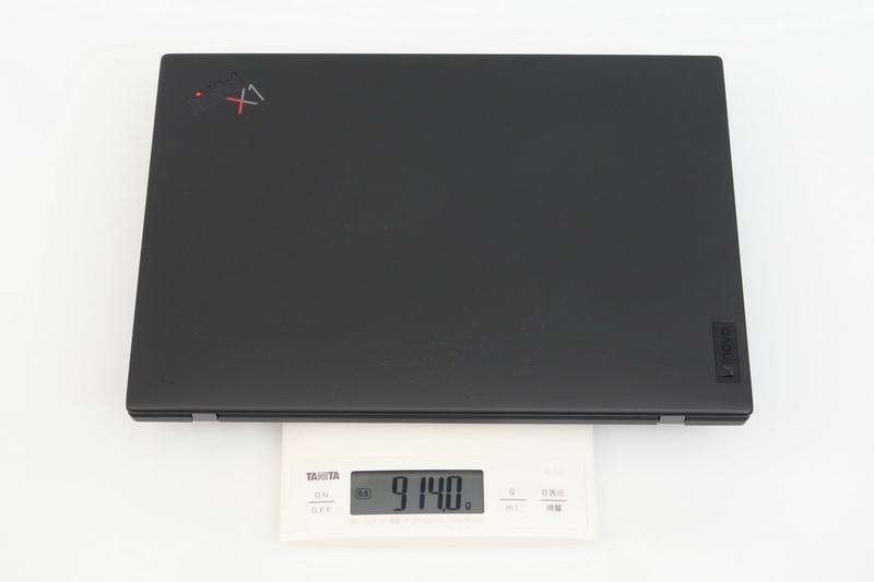試用機の実測の重量は914gと公称よりわずかに重かったが、それでも申し分ない軽さだ