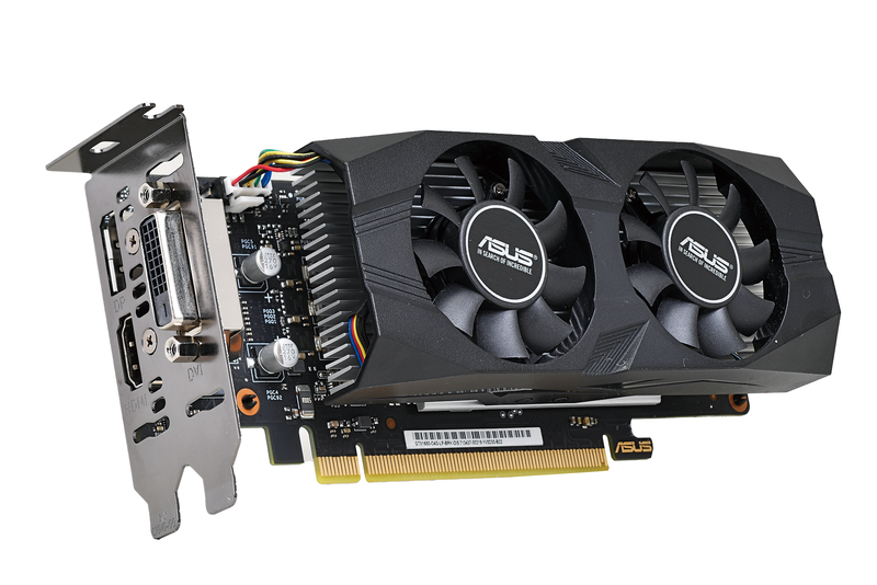 "ASUSTeK Computer<br><strong class=""em "">GTX1650-O4G-LP-BRK</strong><br>NVIDIAのエントリーGPU「GeForce GTX 1650」を搭載するLow Profile対応のビデオカード。ビデオメモリはGDDR5の4GB"