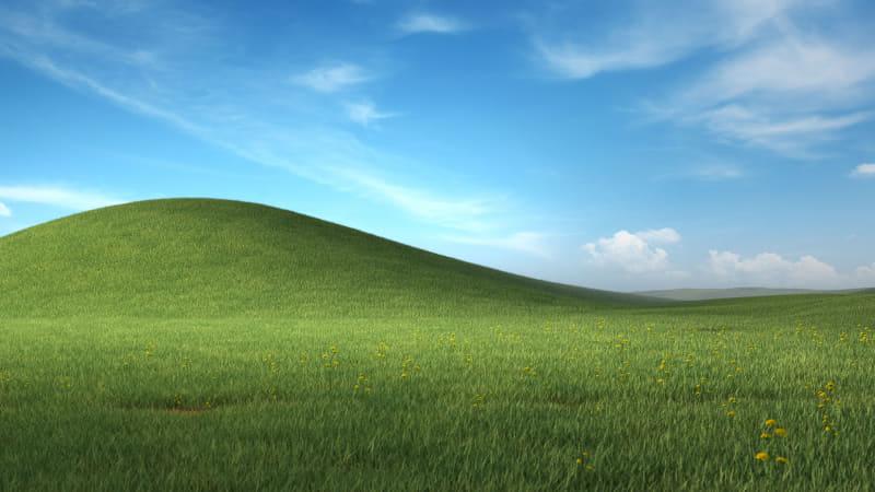 Windows XPの壁紙をモチーフとしたもの