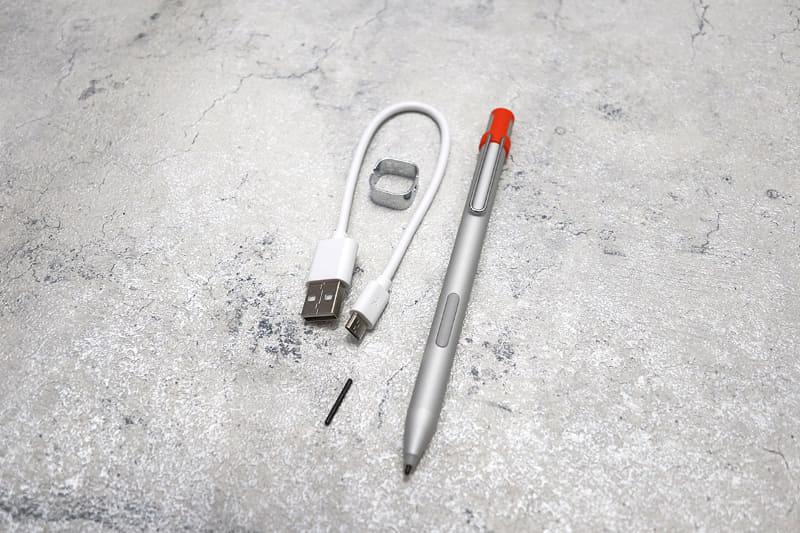 HiPen H6に対応。Micro USBで充電できるので便利だ