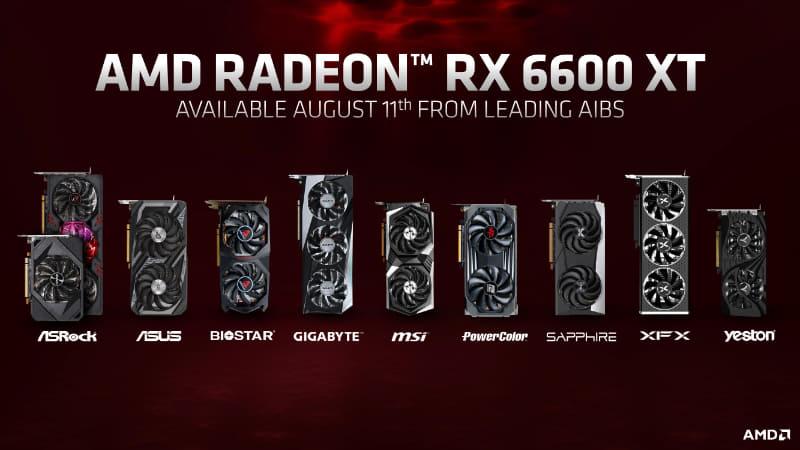 Radeon RX 6600 XTはリファレンスは提供せず、パートナーからのボードのみとなる
