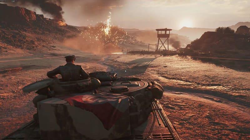 戦車長が天面のハッチから顔を出して周囲の状況を確認するところがリアル