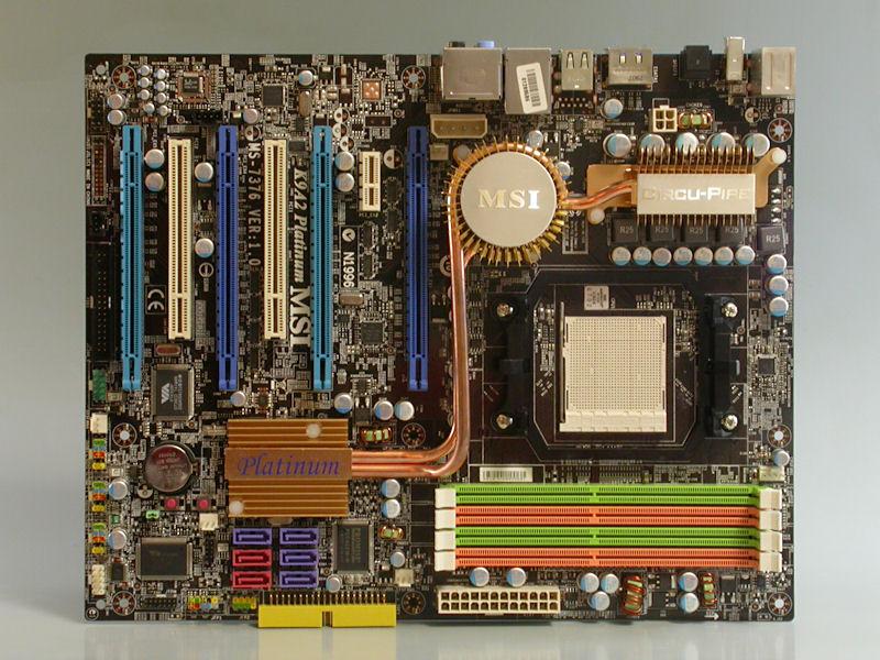 """【写真3】AMD 790FX+SB600を搭載するSocket AM2+対応マザーボードMSI「<A href=""""http://www.msi-computer.co.jp/products/MB/K9A2_Platinum.html"""">K9A2 Platinum</A>」"""