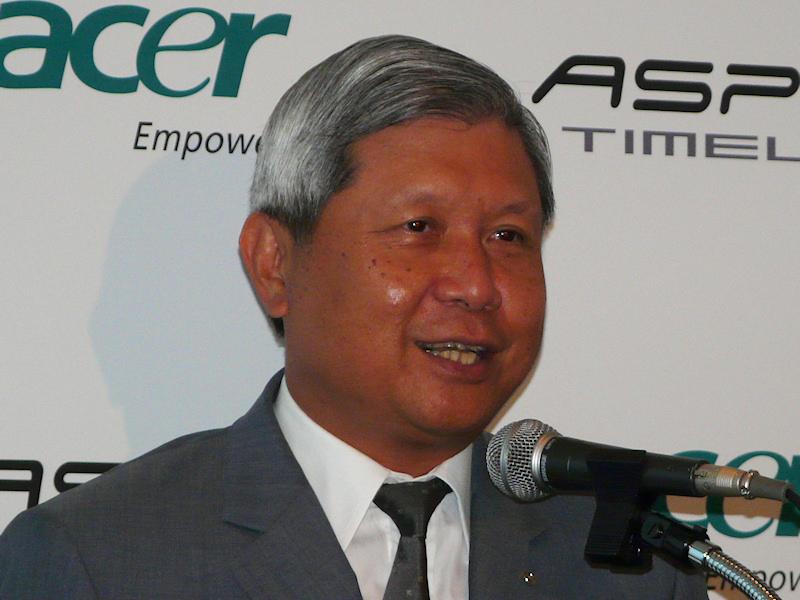 Acerグループ最高経営責任者兼Acer会長のJ. T. Wang氏