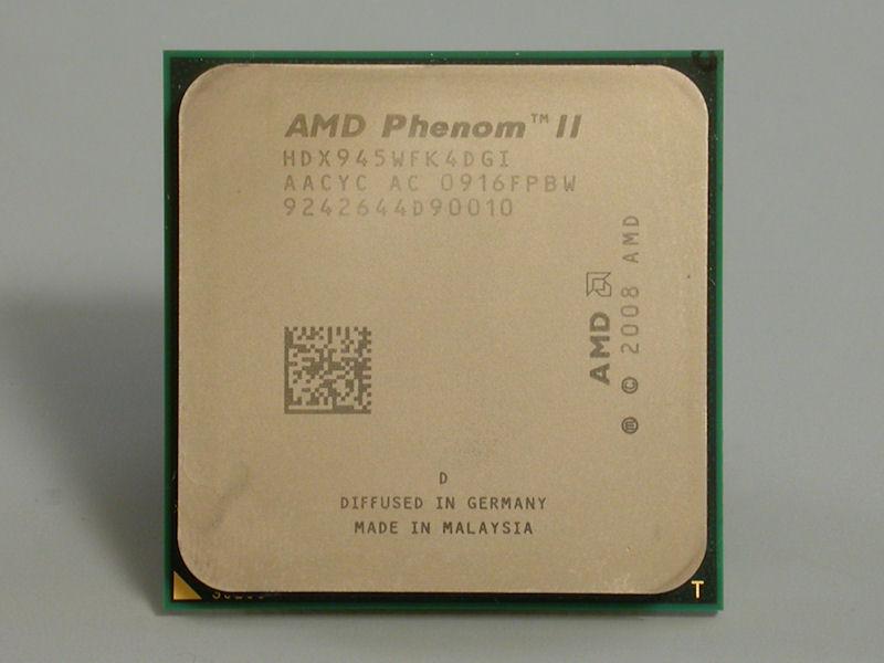 【写真1】95W TDP版のPhenom II X4 945