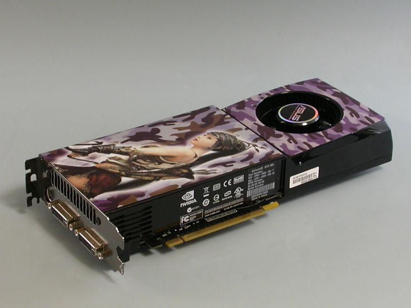 """【写真5】ASUSTeKの「<a href=""""http://www.asus.co.jp/products.aspx?l1=2&amp;l2=6&amp;l3=721&amp;l4=0&amp;model=2293&amp;modelmenu=1"""">ENGTX280/HTDP/1G</a>」。GeForce GTX 280を搭載するビデオカード"""