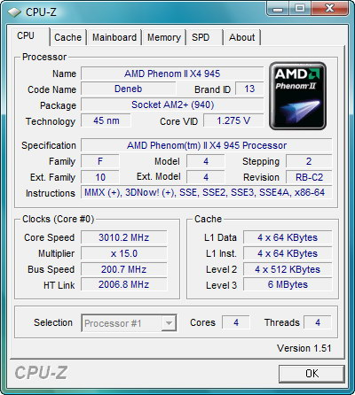 """【画面1】CPU-Zの結果。リビジョンは従来製品と同じ""""C2""""が使われている"""