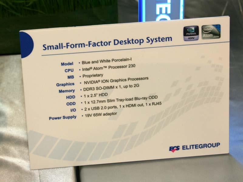 壺型PCのスペック、プラットフォームにはNVIDIAのIONが採用されている