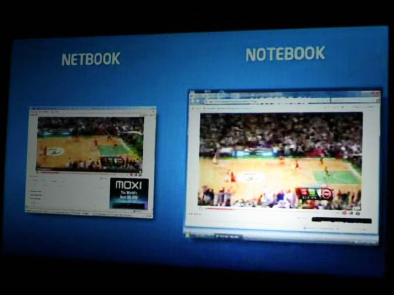 IntelはネットブックではHD動画を満足に再生できないと主張