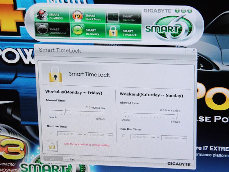 Smart Timelockは主にペアレンタルコントロールとして使われるもので、PCが利用可能な時間を決めておくもの。指定時間になると強制的にシャットダウンされる。平日と週末に分けて管理できる