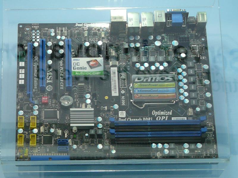 OC Genieに対応したP55マザー「P55-GD80」