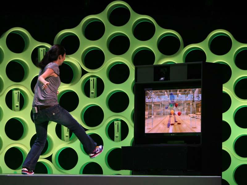 E3のMicrosoftカンファレンスで行なわれたProject Natalのデモ
