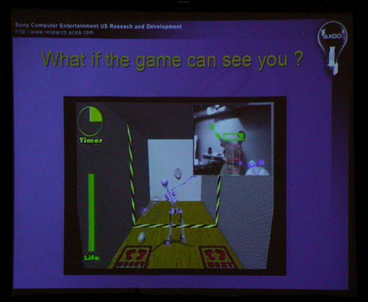 3Dセンサーを使ったゲームデモ