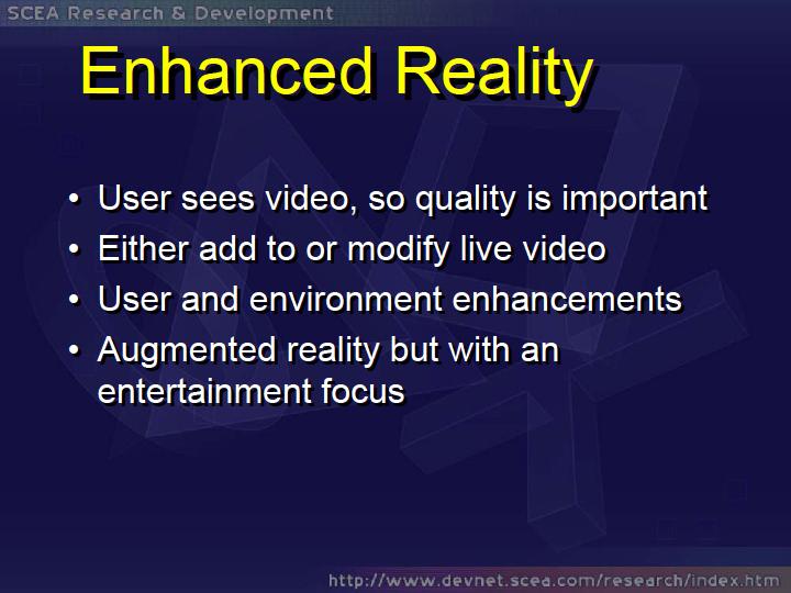 SCEの拡張現実の研究