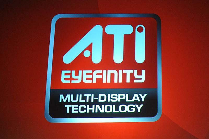 DirectX 11に対応するAMDの次世代GPUに実装される「Eyefinity」のロゴ