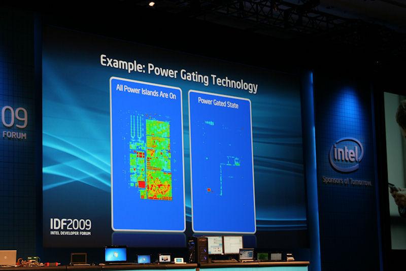 Moorestownでは必要のない部分の電力をオフにするパワーゲーティングの機能がより高機能になり、切れる部分が増えている