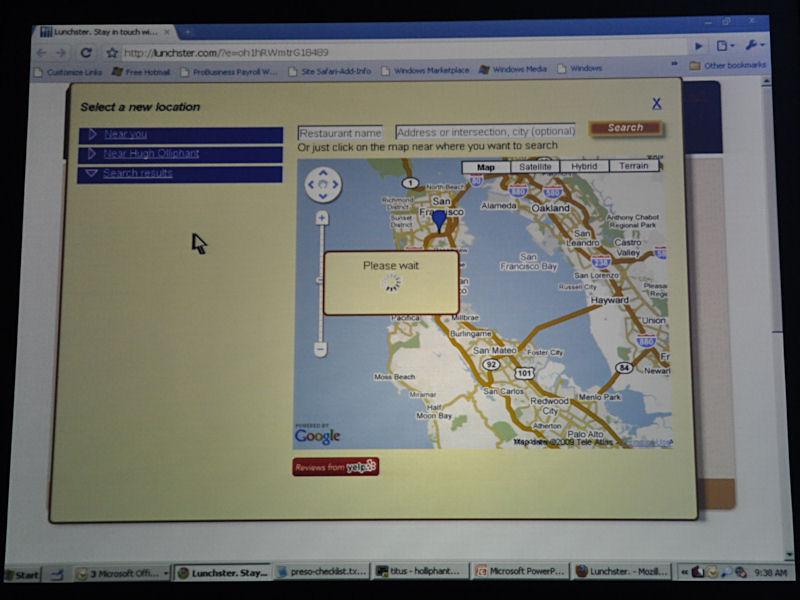 場所のリクエストはGoogle MapやYelpなどのWebサービスを活用