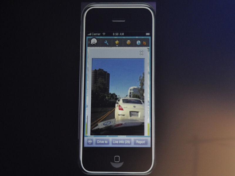 道路状況を携帯電話のカメラで撮影して、共有することもできる