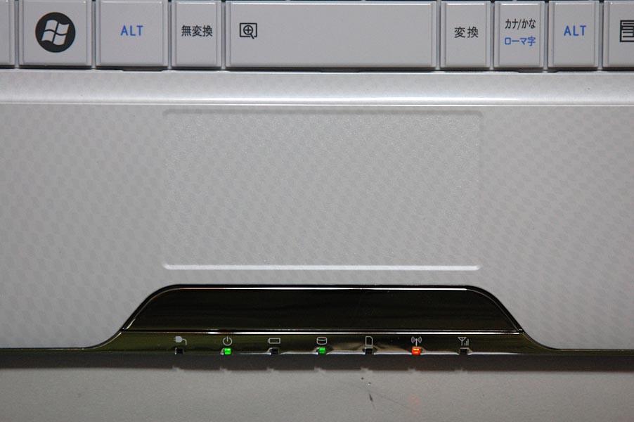 MX/43も、MX/33と同様にタッチパッドを搭載する