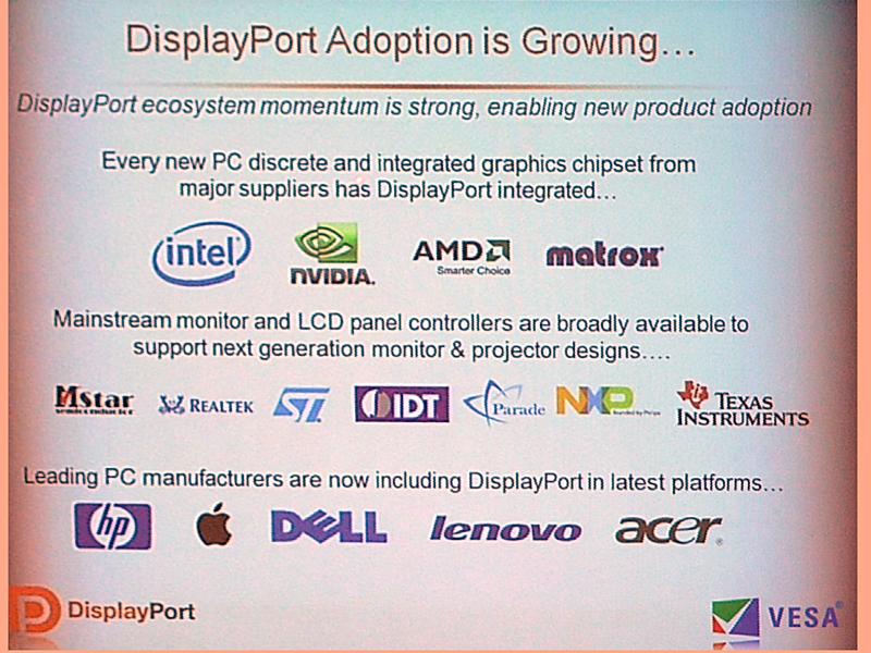 DisplayPortを採用しているメーカー