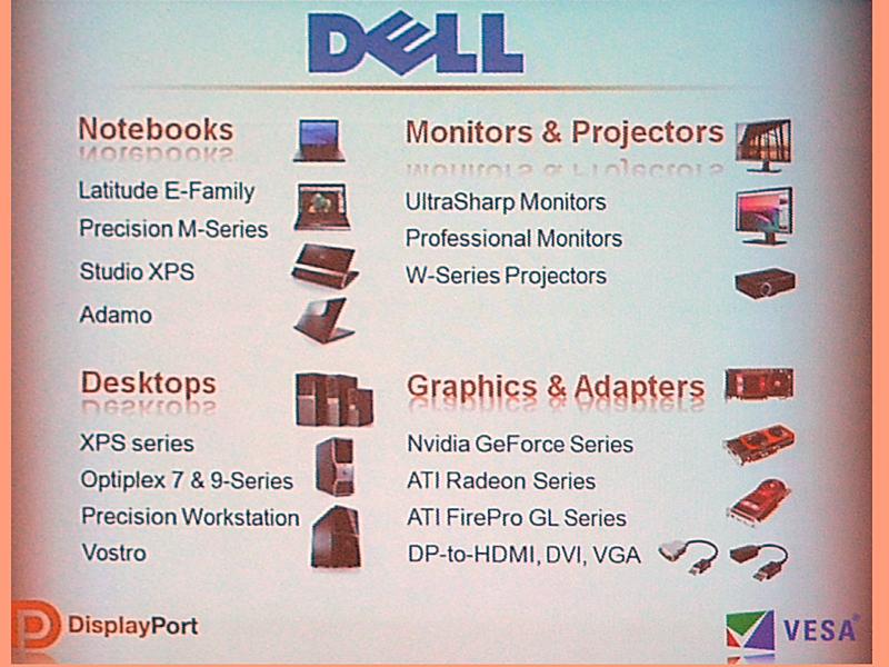 DellのDisplayPort対応製品