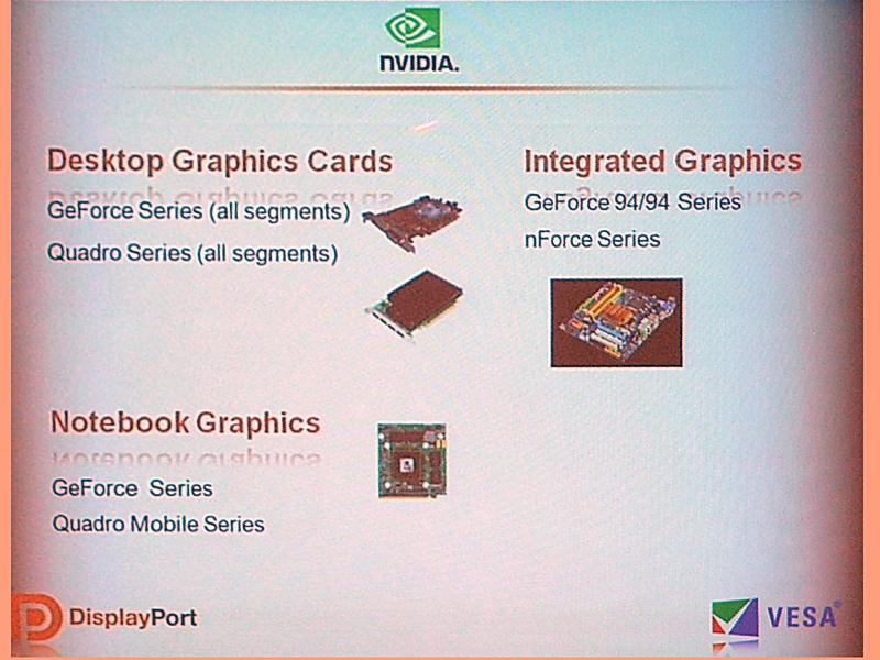 NVIDIAはGeForceやQuadro製品でDisplayPortを装備している
