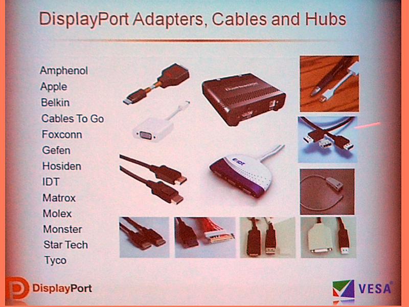 DisplayPort対応のHubやケーブル、変換コネクタなど